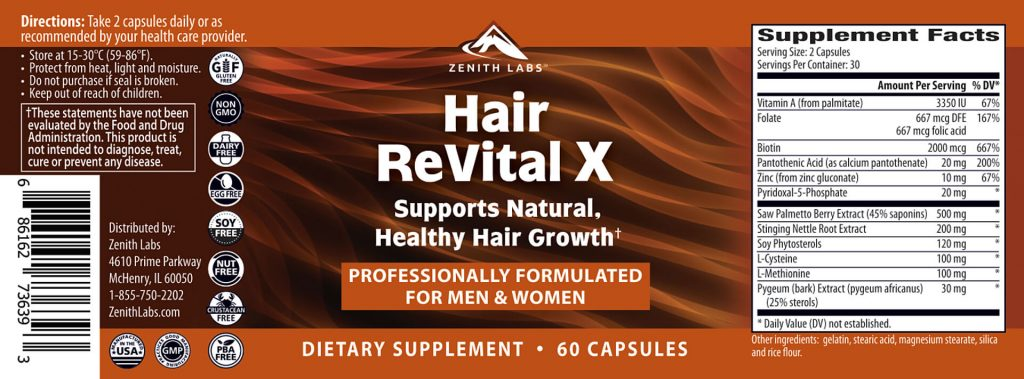 Ingredients in Hair Revital X