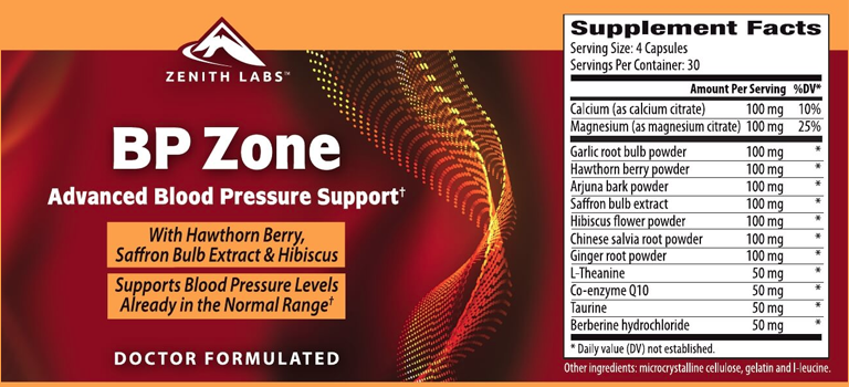 BP Zone Delivers A Natural Blend Of Heart-Healthy Nutrients