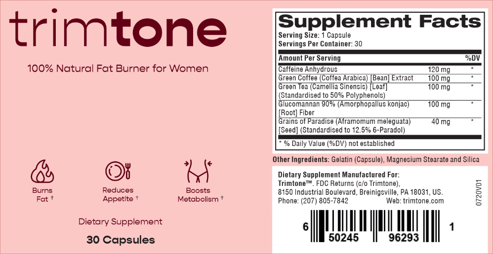 Trimtone supplement facts